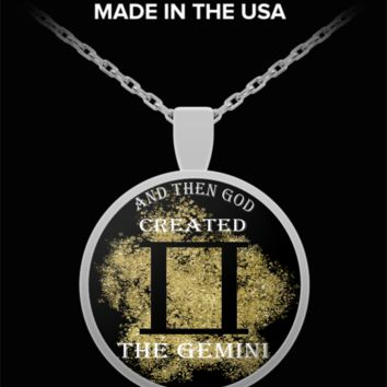 And Then God Created Gemini Pendant Necklace