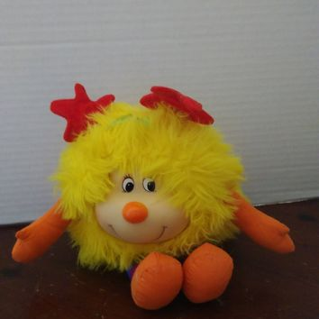 vintage 1983 hallmark mattel rainbow brite yellow spark plush stuffed animal