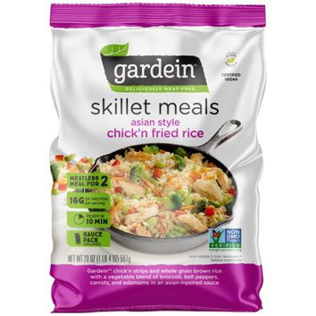 Gardein™ Asian Style Chick'n Fried Rice Deliciously Meat-Free Skillet Meals 20 oz. Bag - Walmart.com