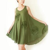 Comfy Cotton Top in Green