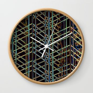 Abstract Design 1 Wall Clock by Claude Gariepy