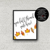Fall Decor, Custom Sign, Thanksgiving Print, Thanksgiving Decor, Printable Fall Decor, Autumn Printable, Fall Decor, Thanksgiving Decoration