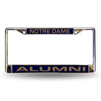Notre Dame Fighting Irish NCAA Laser Chrome License Plate Frame