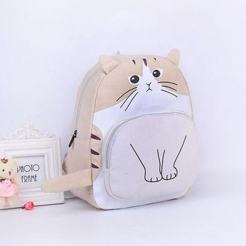 School Backpack trendy DAYGOS Cat Printing Backpack Women Canvas  For Teenagers Ladies Casual Cute Rucksack Bookbags Mochila Feminina AT_54_4