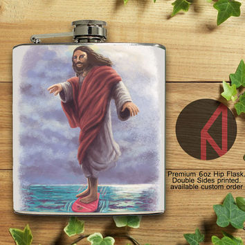 Jesus McFly 6oz Hip Flask