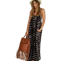Brown Tie-dye Breeze Maxi