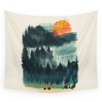 Society6 Wilderness Camp Wall Tapestry