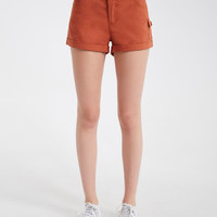 Stretchy Cargo Twill Shorts   Wet Seal