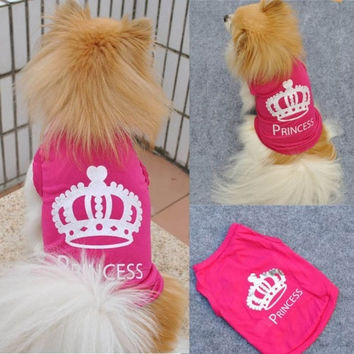Charming Pet Dog Cat Princess T-shirt Clothes Costumes Outfit Vest Summer Coat