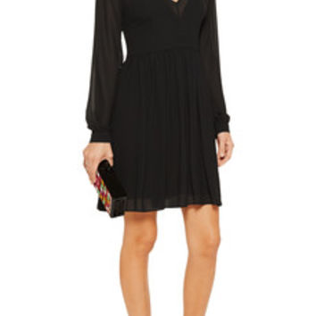 MICHAEL Michael Kors Pleated chiffon mini dress – 57% at THE OUTNET.COM