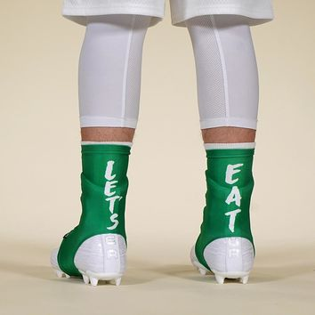 Let's Eat Green Spats / Cleat Covers