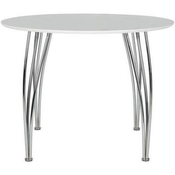 Shell Bentwood Round Dining Table, White - Walmart.com