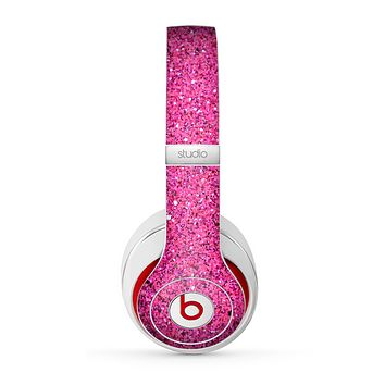 The Pink Sparkly Glitter Ultra Metallic Skin for the Beats by Dre Studio (2013+ Version) Headphones