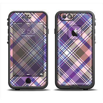 The Gray & Purple Plaid Layered Pattern V5 Apple iPhone 6 LifeProof Fre Case Skin Set