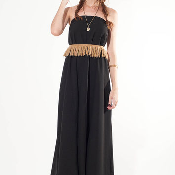 Long Black Dress, Maxi strapless dress, black dress with 6 seams, maxi strapless black dress, maxi skirt