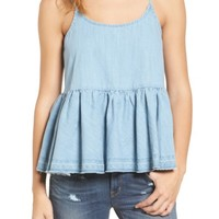 Treasure & Bond Denim Peplum Camisole | Nordstrom