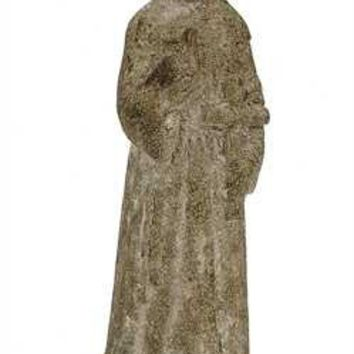 "Religious Statue. 11-1/2"" H Magnesia Vintage Reproduction of Saint Statue."