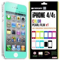 SQ1 [Mercury] Matte Finish Color Screen Protector for Apple iPhone 4 (Turquoise / Mint): Cell Phones & Accessories