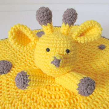 Giraffe Lovey PDF Crochet Pattern INSTANT DOWNLOAD