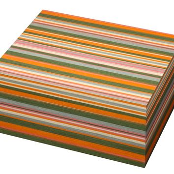Stripes Multi-colored Cigar Humidor - Holds 50 Cigars