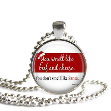 Buddy the Elf Quote Silver Plated Picture Pendant Necklace