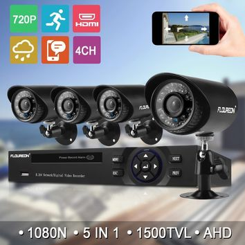 1 X 4CH 1080N AHD DVR + 4 X Outdoor 1500TVL 720P 1.0MP Camera Security Kit
