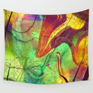 Opalescent Alien View Wall Tapestry by Minx267