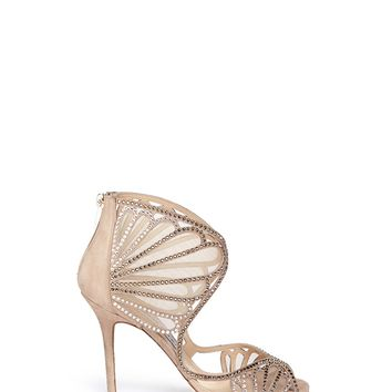 JIMMY CHOO - 'Kole' crystal mesh sandals - on SALE | Neutral Sandals High Heels | Womenswear | Lane Crawford - Shop Designer Brands Online