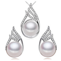 Freshwater Pearl Women's Sterling Silver Jewelry Set