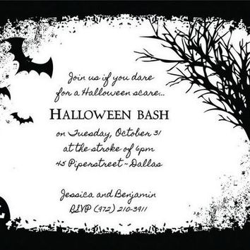 Black Forest Halloween Party Invitations