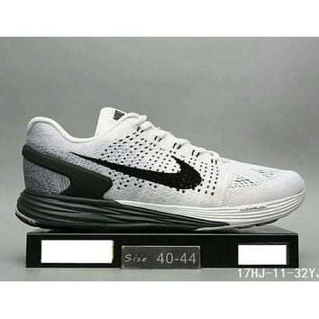 Nike Lunarglide 7 moon fly line men and women casual sports running shoes F-HAOXIE-ADXJ Grey