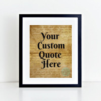 Typography Printable Art  Custom Quote Art Print Dictionary Art Print Upcycled Wall Art Quote Personalized Art Print Art Print