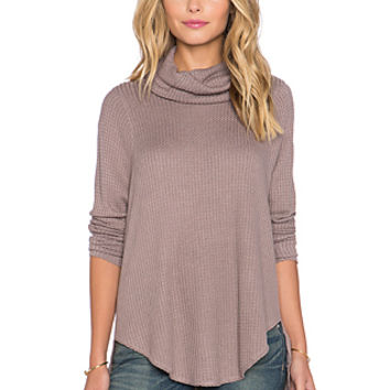 Kristina Long Sleeve Thermal in Mushroom