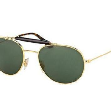 NEW Genuine Ray Ban RB3540 001 53 Gold Crystal Mens Womens Sunglasses Glasses