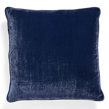 Poetic Wanderlust 'Brianna' Velvet Pillow - Blue