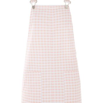 MOTO Pink Gingham Pinafore Dress - Dresses - Clothing