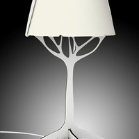Innovative Modern Easy DIY LED Desk Lamp with USB port- White With Tree Stand