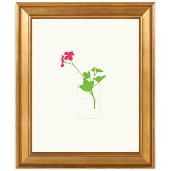 Geranium by Jorey Hurley Framed Print for Artfully Walls
