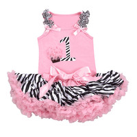 Girls First Birthday Outfit-1st. Birthday Zebra Tutu Set- Birthday Party Dress- Girls Tutu Set-Trendy Baby Clothes