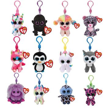 Ty Beanie Boos Big Eyes Plush Keychain Toy Doll TY Baby Kids Gift
