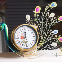 Peacock Style Big Size Clock [6282923590]