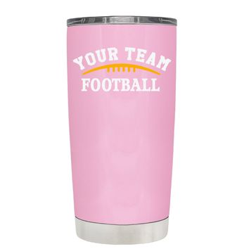 TREK Custom Football Team on Pretty Pink 20 oz Tumbler Cup