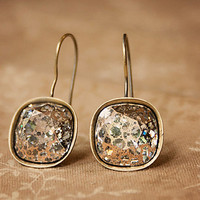 Handmade Swarovski Earrings New 2014 Rose Patina Faceted Cushion Fancy Stone Antiqued Gold