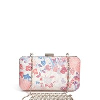 Beta Lunar Floral Print Box Clutch Bag at asos.com