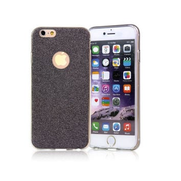 Ultra Thin Glitter Bling Cute Black Candy Cover Crystal Soft Gel TPU Phone Back Shell Case For iPhone 5 5s 6 6s 6 Plus 6s Plus