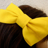 American Girl Accessory Bow Clip Yellow