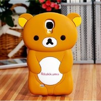Delivery Time 20-30 Days Rilakkuma Silicone Case for Samsung Galaxy S4/ I9500 (Brown)