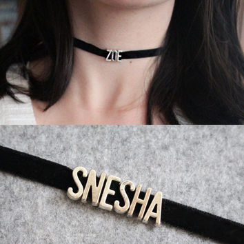Fashion Women Girls Punk Gothic Customize Name Collar Choker Necklace Maxi Multicolors Beauty Hot Sales