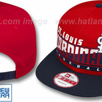 mobile product - Cardinals SLICE-N-DICE SNAPBACK Red-Navy Hat by