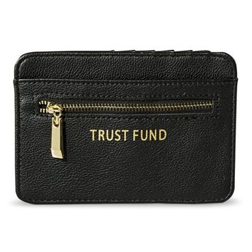 "Merona® ""Trust Fund"" Credit Card Wallet - Black"